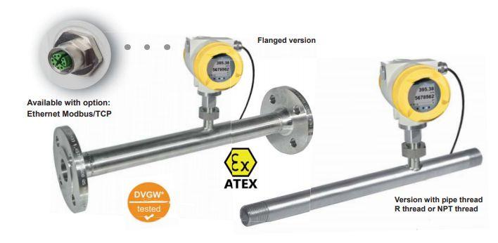 Máy đo khí nén và khí tự nhiên M-Bus | Compressed air and natural gas meters with M-Bus