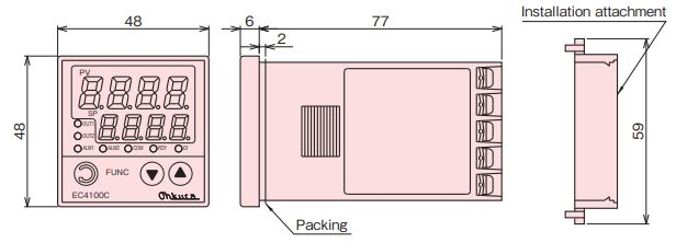 EC4100C Bộ điều khiển nhiệt độ Ohkura | EC4100C TEMPERATURE CONTROLLER