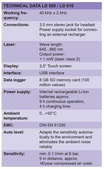 LD 500/510 Máy dò rò rỉ CS-Instruments | LD 500/510 Leak detector