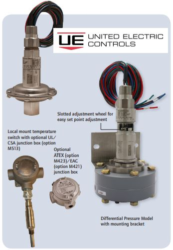 Dual Seal 12 Series Pressure Switch United Electric Controls